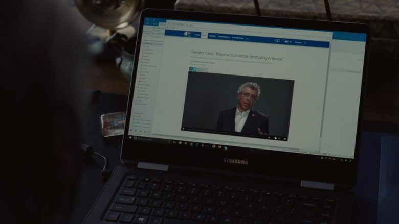 Samsung Laptop Used by Brian Cox as Logan Roy in Succession Season 1 Episode 8 Prague