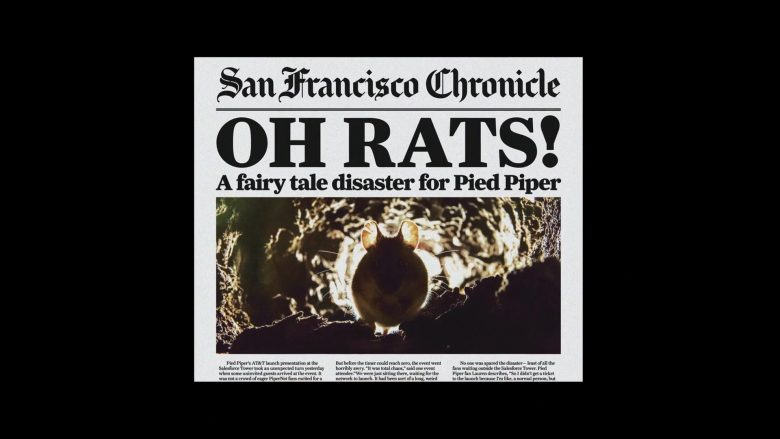 San Francisco Chronicle Newspaper in Silicon Valley Season 6 Episode 7 Exit Event