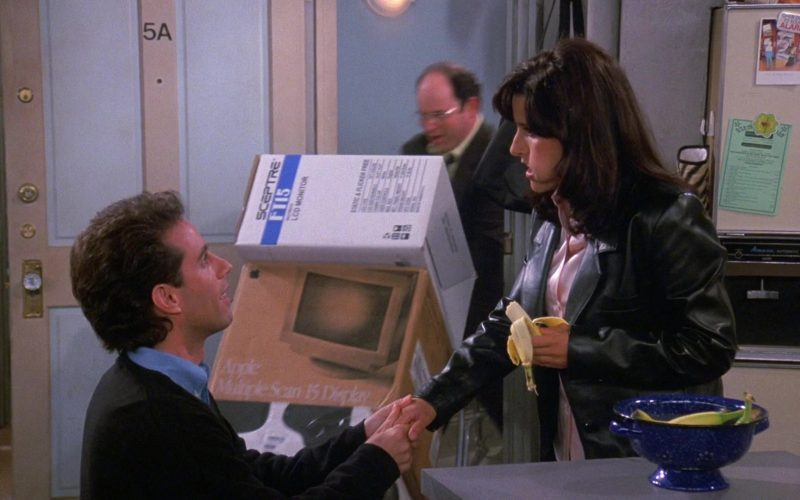 Sceptre LCD Monitor Box and Apple Multiple Scan 15 Display in Seinfeld Season 9 Episode 3 The Serenity Now