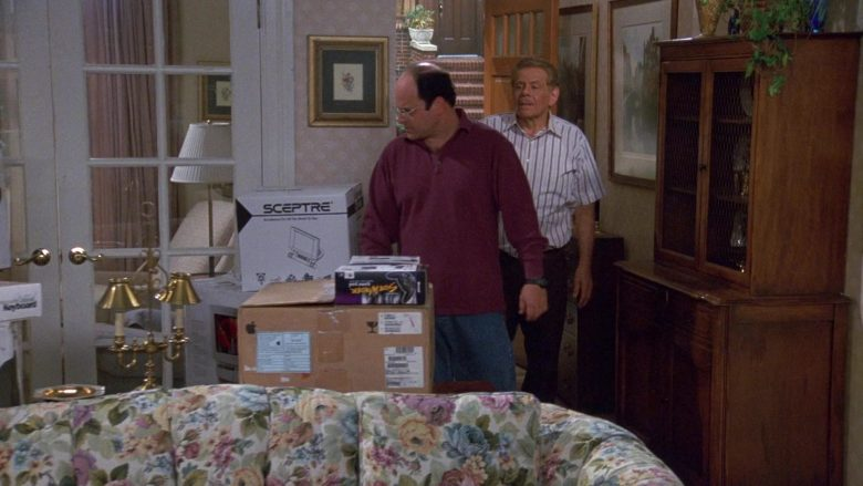 Sceptre LCD Monitor Boxes in Seinfeld Season 9 Episode 3 The Serenity Now (2)