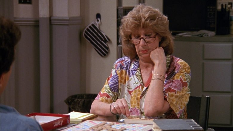 Scrabble Board Game by Milton Bradley in Seinfeld Season 1 Episode 2 The Stake Out