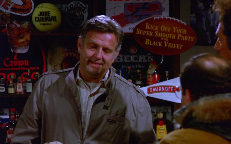 Seagram's Seven Crown Whiskey, Jose Cuervo Tequila, Black Velvet, Beck's Beer, Smirnoff Vodka in Seinfeld Season 5 Episod