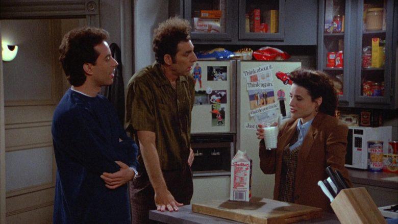 Sealtest Milk Enjoyed by Julia Louis-Dreyfus as Elaine Benes in Seinfeld Season 4 Episode 19 (2)
