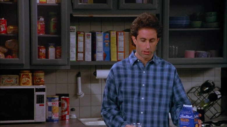 Sealtest Orange Juice Enjoyed by Jerry Seinfeld in Seinfeld Season 4 Episode 11 The Contest (1)