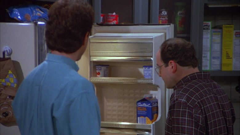 "Sealtest Orange Juice in Seinfeld Season 4 Episode 10 ""The Virgin"" (1992) - TV Show Product Placement"