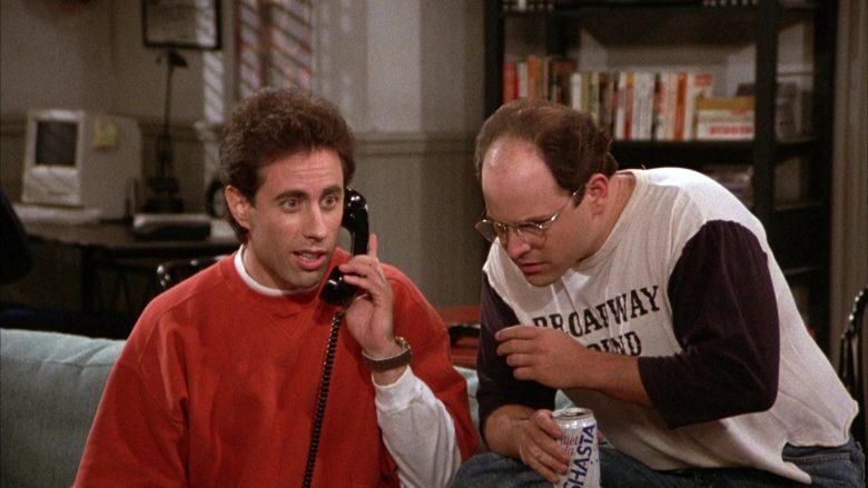 Shasta Diet Cola Can Held by Jason Alexander as George Costanza in Seinfeld Season 3 Episode 11 (5)