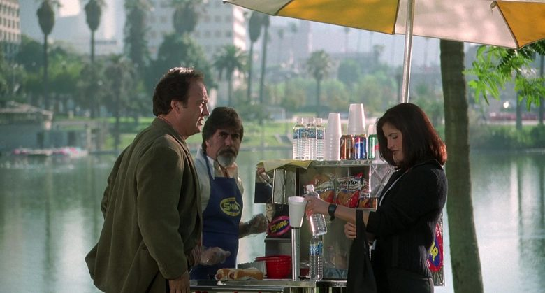 Shofar Hot Dogs, Naya Water, Doritos Chips and Pepsi Can in K-911 (1999)
