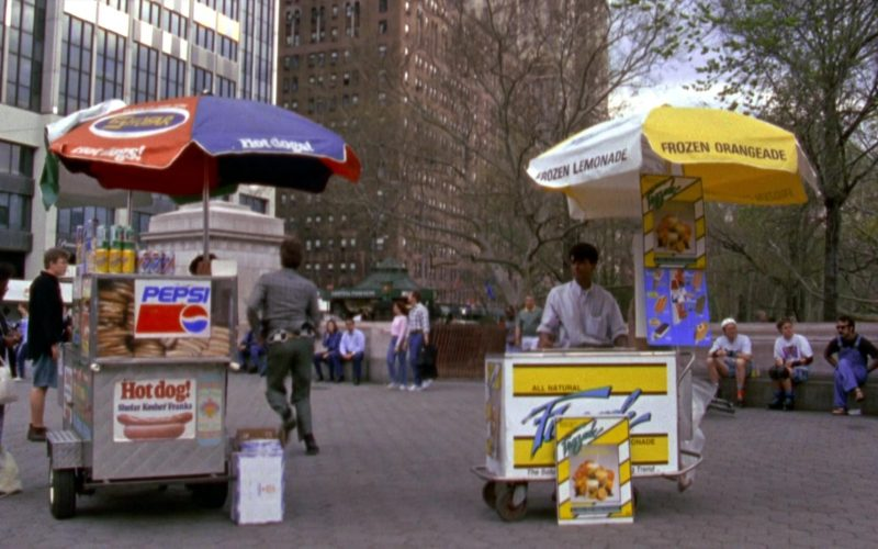 Shofar Hot Dogs and Pepsi in Seinfeld Season 6 Episode 24 The Understudy