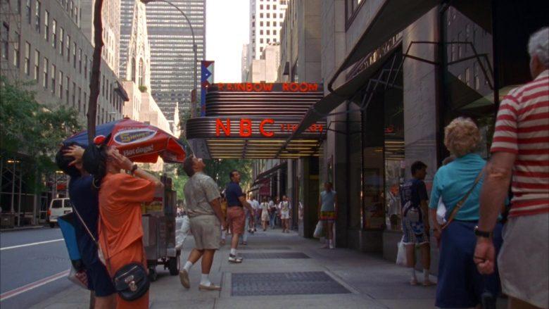 Shofar Kosher Hot Dogs and NBC Studios in Seinfeld Season 5 Episode 2 The Puffy Shirt (2)