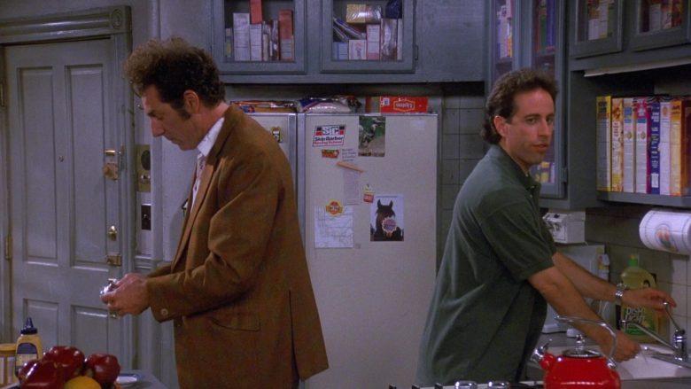 Skip Barber Racing School Sticker and Lipton Tea in Seinfeld Season 9 Episode 1 The Butter Shave (1)
