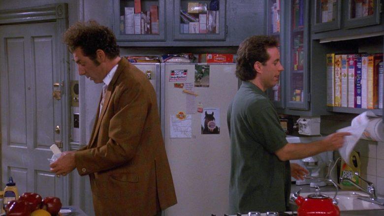 Skip Barber Racing School Sticker and Lipton Tea in Seinfeld Season 9 Episode 1 The Butter Shave (2)