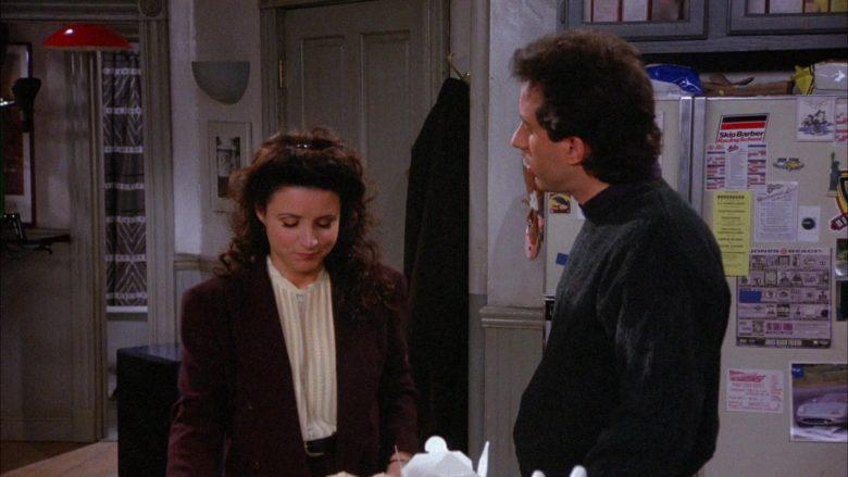 Skip Barber Racing School Sticker in Seinfeld Season 6 Episode 16 The Beard (1)