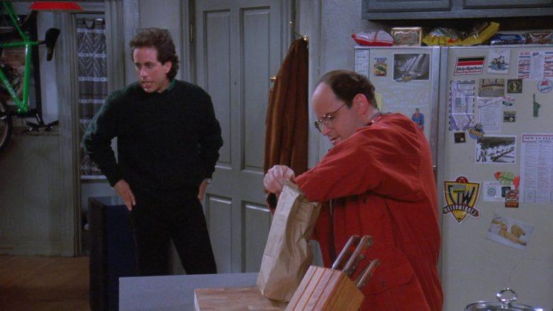 "Skip Barber Racing School Sticker in Seinfeld Season 7 Episode 9 ""The Sponge"" (1995) - TV Show Product Placement"