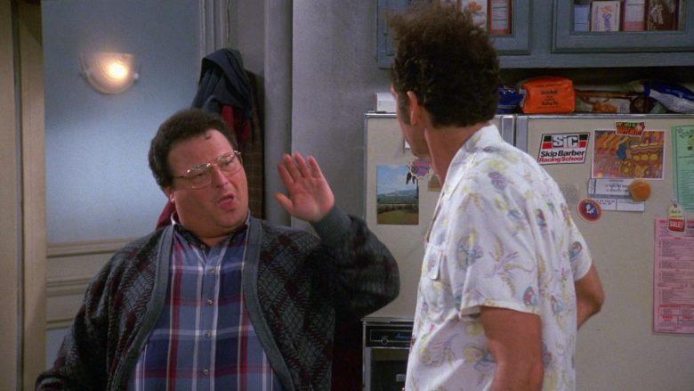 Skip Barber Racing School Sticker in Seinfeld Season 9 Episode 12 The Reverse Peephole