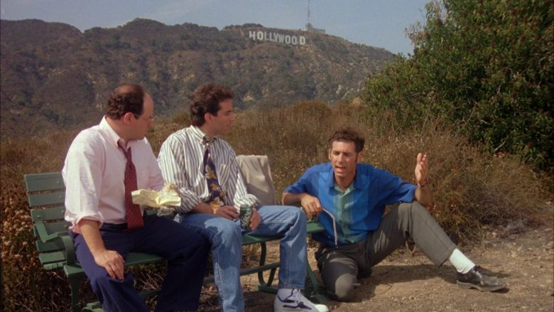 """Slice Soda Enjoyed by Jerry Seinfeld in Seinfeld Season 4 Episode 2 """"The Trip (Part 2)"""" (1992) - TV Show Product Placement"""