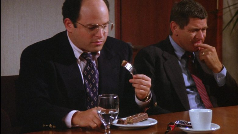 Snickers Chocolate Bar Enjoyed by Jason Alexander as George Costanza in Seinfeld Season 6 Episode 3 (3)