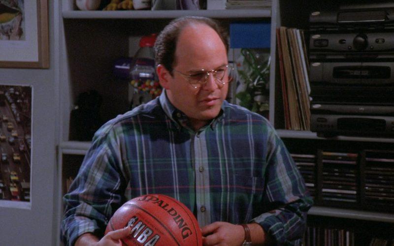 Spalding x NBA Basketball Held by Jason Alexander as George Costanza in Seinfeld Season 7 Episode 8 (1)