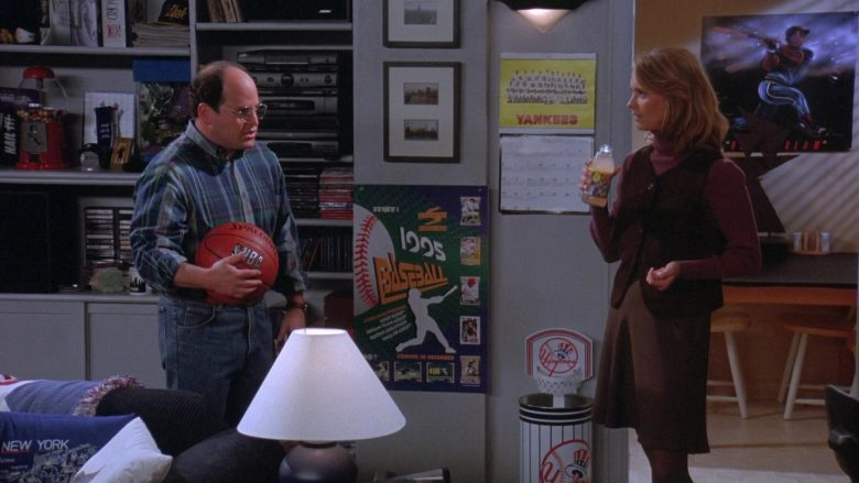 Spalding x NBA Basketball Held by Jason Alexander as George Costanza in Seinfeld Season 7 Episode 8 (2)