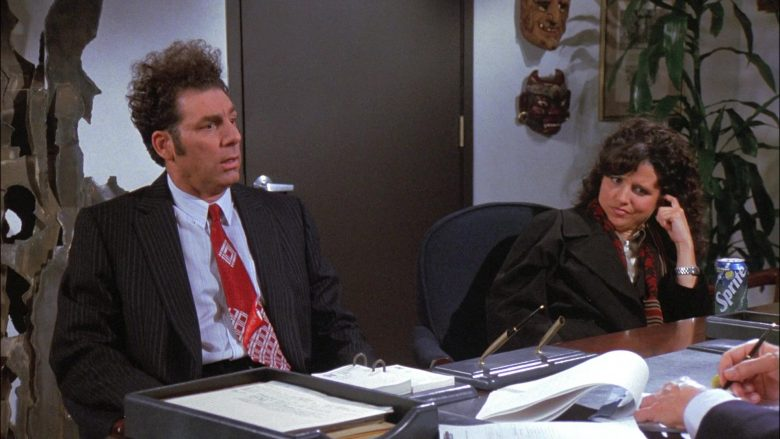 Sprite Soda Enjoyed by Julia Louis-Dreyfus as Elaine Benes in Seinfeld Season 8 Episode 13 The Comeback (1)