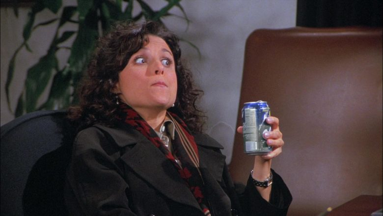 Sprite Soda Enjoyed by Julia Louis-Dreyfus as Elaine Benes in Seinfeld Season 8 Episode 13 The Comeback (2)