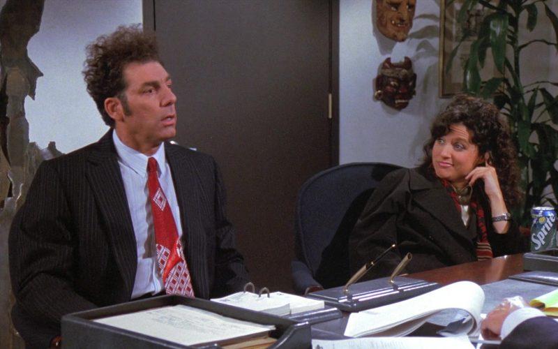 Sprite Soda Enjoyed by Julia Louis-Dreyfus as Elaine Benes in Seinfeld Season 8 Episode 13 The Comeback (3)