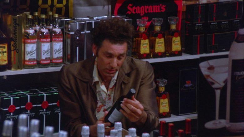 Stolichnaya, Seagram's, Cuervo in Seinfeld Season 5 Episode 13 The Dinner Party (1)