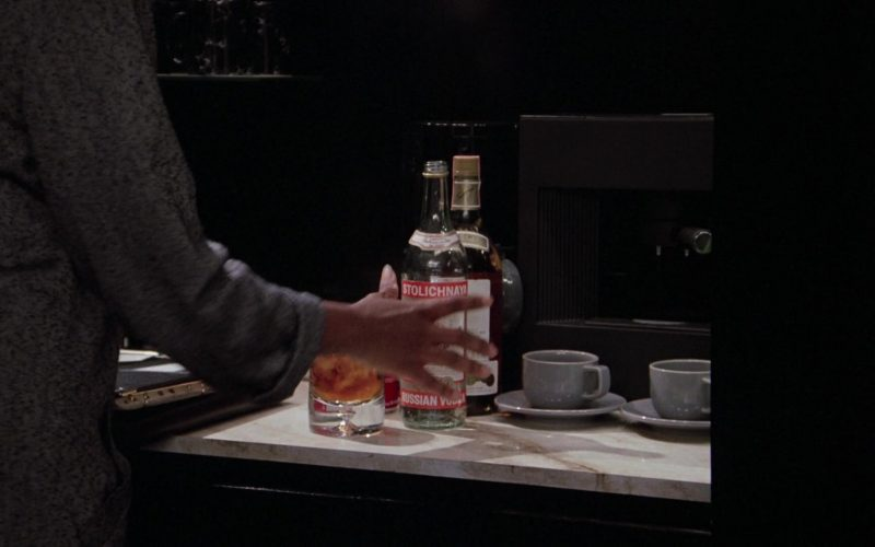 Stolichnaya Vodka Bottle in Scrooged (1)