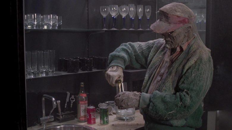 Stolichnaya Vodka, Tab and Sprite Soda Drinks in Scrooged