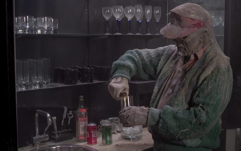 Stolichnaya Vodka, Tab and Sprite Soda Drinks in Scrooged