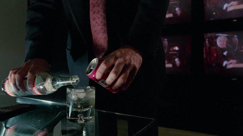 Stolichnaya Vodka and Tab Soda Enjoyed by Bill Murray in Scrooged Movie (1)