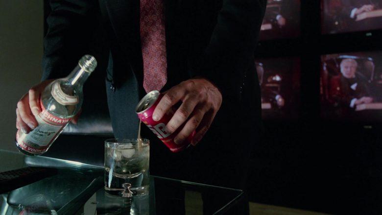 Stolichnaya Vodka and Tab Soda Enjoyed by Bill Murray in Scrooged Movie (2)