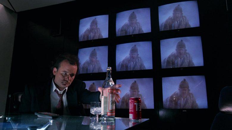 Stolichnaya Vodka and Tab Soda Enjoyed by Bill Murray in Scrooged Movie (6)