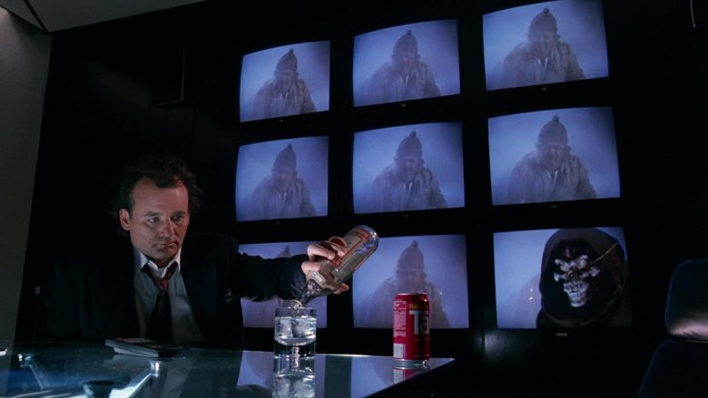 Stolichnaya Vodka and Tab Soda Enjoyed by Bill Murray in Scrooged Movie (7)