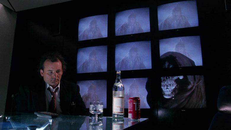 Stolichnaya Vodka and Tab Soda Enjoyed by Bill Murray in Scrooged Movie (8)