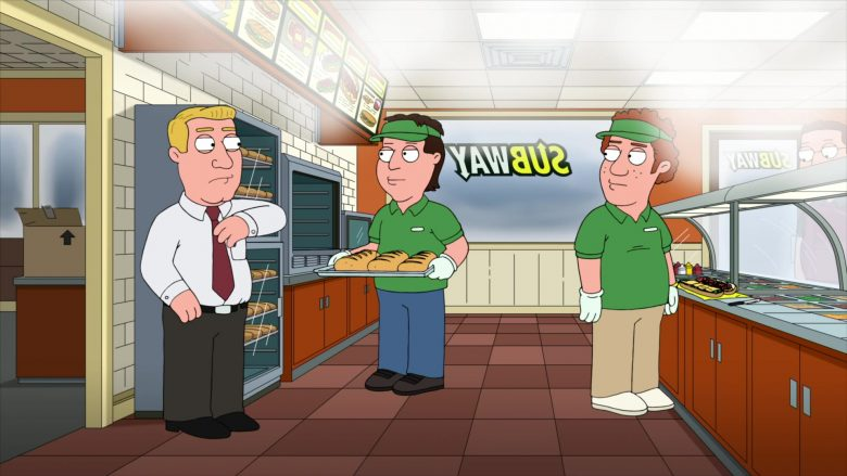 Subway Restaurant in Family Guy Season 18 Episode 9 Christmas Is Coming (1)
