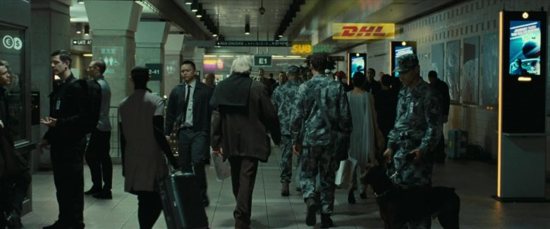 Subway and DHL Hologram Signs in Ad Astra (2019)