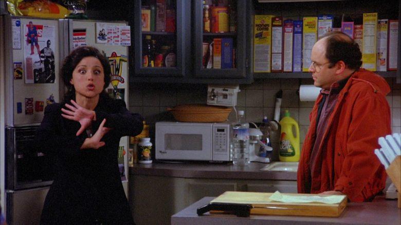 Sunlight Dishwashing Liquid, Post Honeycomb, Nabisco Sweetened Wheat and Cheerios Cereal in Seinfeld Season 6 Episode 21