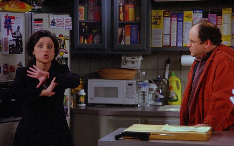 Sunlight Dishwashing Liquid, Post Honeycomb, Nabisco Sweetened Wheat and Cheerios Cereal in Seinfeld Season 6 Episode 21