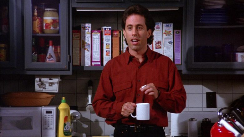 Sunlight Dishwashing Liquid in Seinfeld Season 6 Episode 5 The Couch
