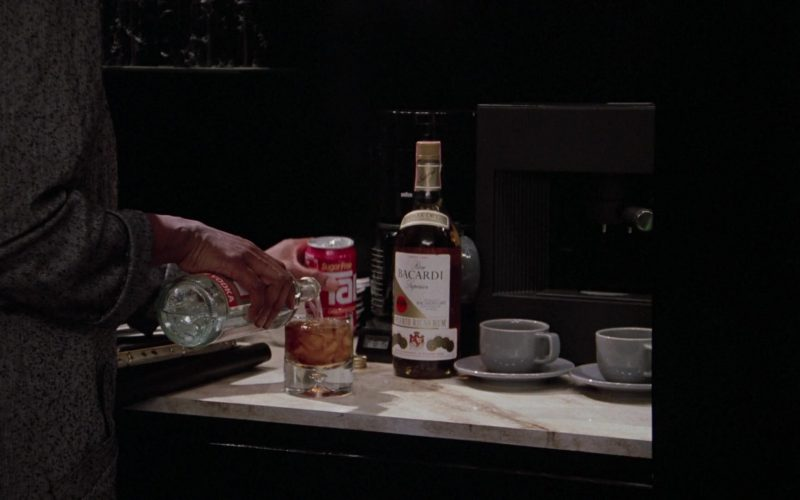 TAB Soft Drink and Bacardi Rum in Scrooged