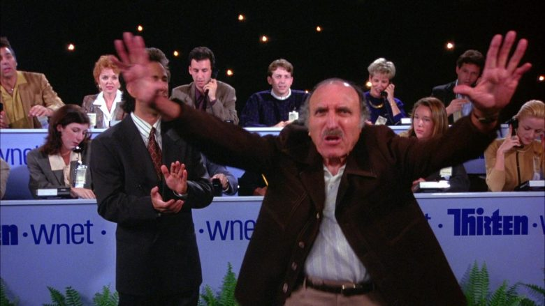 """THIRTEEN WNET in Seinfeld Season 6 Episode 3 """"The Pledge Drive"""" (1994) - TV Show Product Placement"""