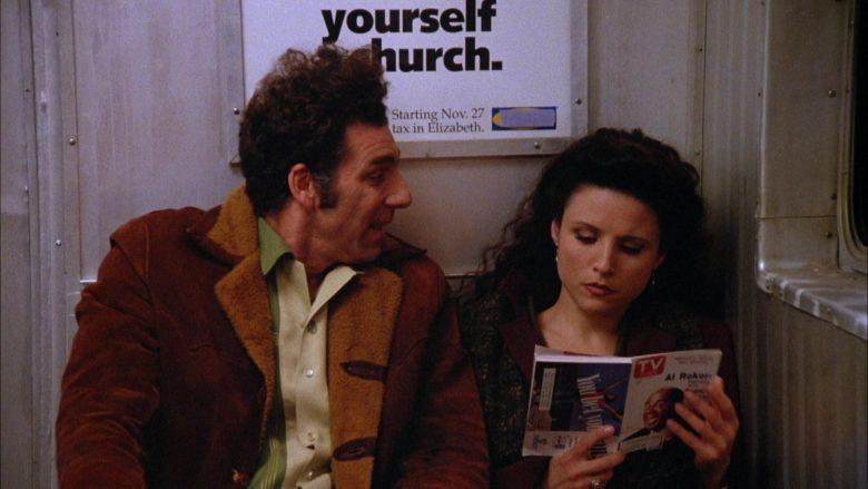 TV Guide Magazine Held by Julia Louis-Dreyfus as Elaine Benes in Seinfeld Season 5 Episode 10 (1)