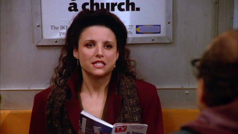TV Guide Magazine Held by Julia Louis-Dreyfus as Elaine Benes in Seinfeld Season 5 Episode 10 (4)