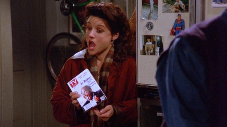 TV Guide Magazine Held by Julia Louis-Dreyfus as Elaine Benes in Seinfeld Season 5 Episode 10 (5)