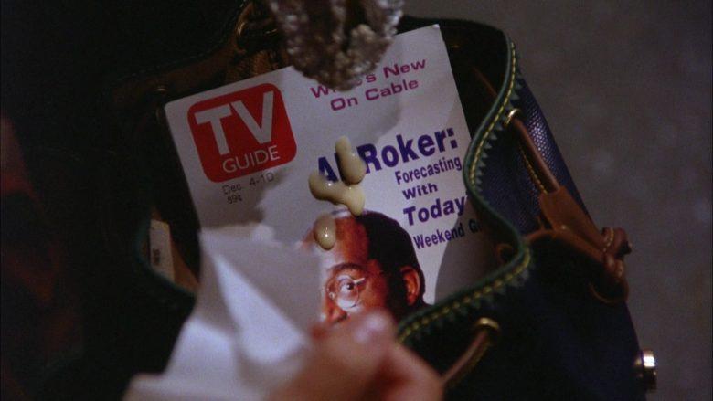 TV Guide Magazine Held by Julia Louis-Dreyfus as Elaine Benes in Seinfeld Season 5 Episode 10 (6)