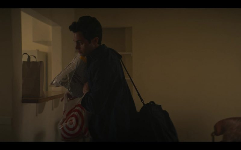 Target Store Plastic Bag Held by Penn Badgley as Joe Goldberg in YOU Season 2 Episode 1 A Fresh Start