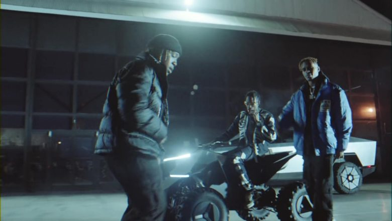 Tesla Cyberquad ATV in Gang Gang by Jackboys Sheck Wes, Don Toliver, Luxury Tax 50 & Cactus Jack (Travis Scott) (2)
