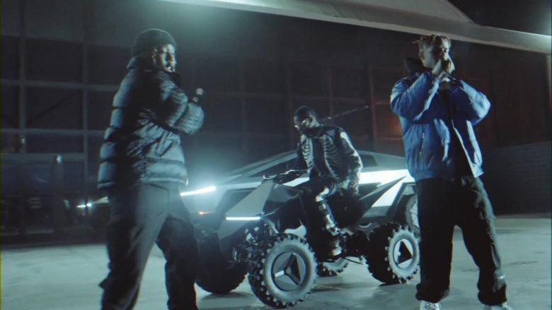 Tesla Cyberquad ATV in Gang Gang by Jackboys Sheck Wes, Don Toliver, Luxury Tax 50 & Cactus Jack (Travis Scott) (3)