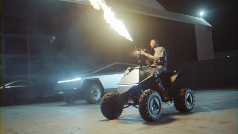 Tesla Cyberquad ATV in Gang Gang by Jackboys Sheck Wes, Don Toliver, Luxury Tax 50 & Cactus Jack (Travis Scott) (6)