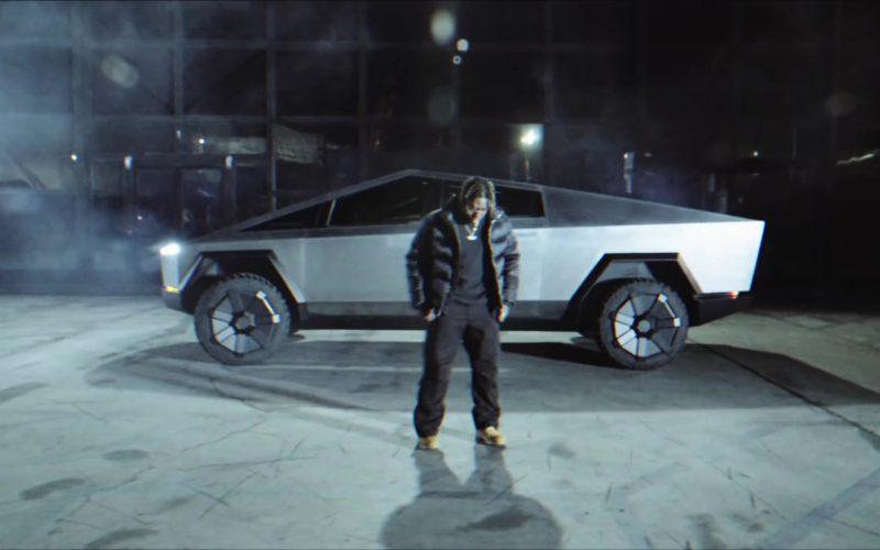 Tesla Cybertruck Car in Gang Gang by Jackboys Sheck Wes, Don Toliver, Luxury Tax 50 & Cactus Jack (Travis Scott) (3)